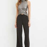 Contemporary Metallic Cutout Jumpsuit