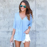 Women clothes  Shirts Ladies  summer Loose