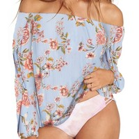 Billabong Mi Amore Print Off the Shoulder Top | Nordstrom