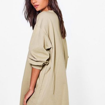 Tall Cleo Oversized Sweat Dress | Boohoo