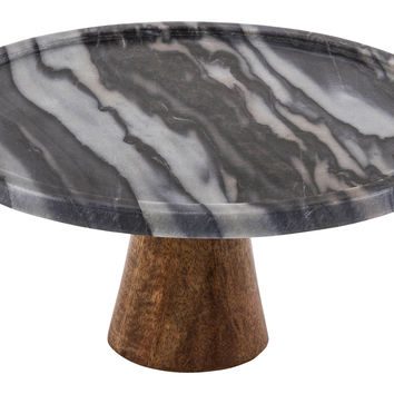 Black Marble & Wood Cake Stand, Cake Stands & Tiered Trays