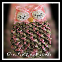 Crochet Baby Owl Cocoon - Baby Sack - Sleeping Owl - Photo Prop