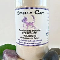 Smelly Cat Deodorizing Powder Refresher and Dry Powder Cleansing Shampoo - 10.5 oz All Natural, With Organic Cleansing Powders, Vegan