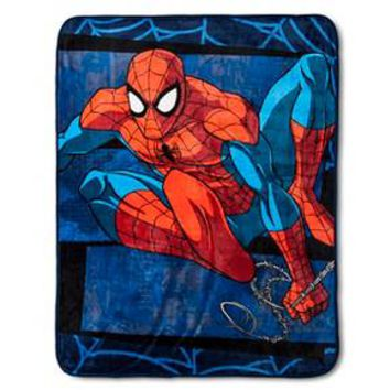 "Spiderman ""Burst"" Throw (50X60) Multicolored - Marvel®"