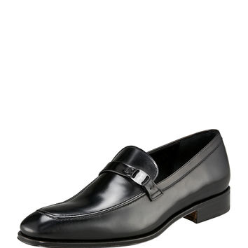 Destin Leather Loafer, Black - Salvatore Ferragamo
