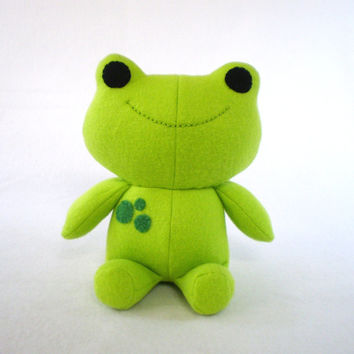 Green Frog Stuffed Plush Toy Animal