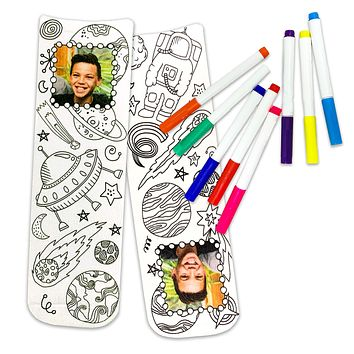 "Pet or People Photos Printed Socks with Custom ""Coloring Book"" Designs, Free Fabric Markers (while supplies last)"