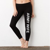 ARMY WIFE | Ladies' Cotton/Spandex Legging