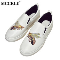 MCCKLE New Casual Shoes For Women 2017 Spring&Autumn Fashion Soft  Vulcanizes Office Confort Flat Walking Shoes