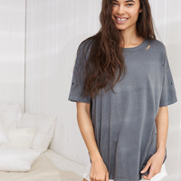 Aerie Real Soft® Oversized Tee, Shell Gray
