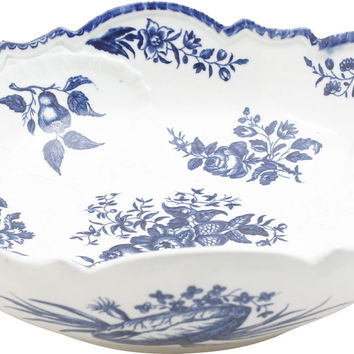 FINE AND RARE DR WALL, FIRST PERIOD WORCESTER BOWL C.1770-76
