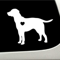 I love my Labrador Retriever Car Decal