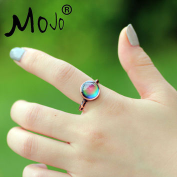 Mojo Vintage Bohemia Retro Color Change Mood Ring Emotion Feeling Changeable Ring Temperature Control Ring for Women MJ-RC002