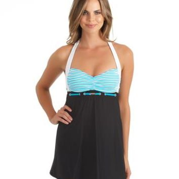 Slimming Halter Swim Dress l Nautica Swimwear l SwimSpot