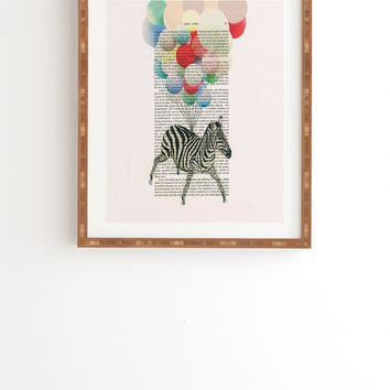 Coco de Paris Flying Zebra Framed Wall Art