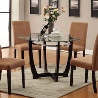 F2348+F1301 - Stratford Dining Table + 4 Saddle Chairs - Furniture2Go