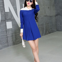 Clearance : blue white unique style dress clearance ghl0033