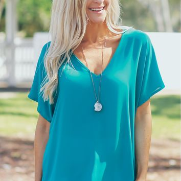 Short Sleeve Blouse Harbor Blue