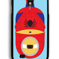 Minions Spiderman for Samsung Galaxy S4 Hard Cover Plastic