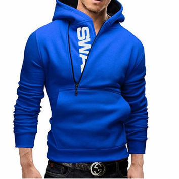 Men's Side-Zipper Hoodie with Extended Sizes