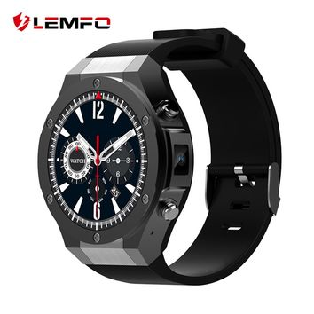 LEMFO 2018 New Smart Watch For Android IOS 1GB + 16GB With WhatsApp 3G SIM WIFI GPS Bluetooth 5MP Camera Smartwatch Phone Men
