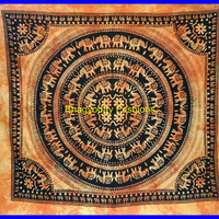 Indian Elephant Hippie Hippy Tapestry Wall Hanging Throw Cotton Bed cover Bohemian Bed Decor Bed Spread Ethnic Decorative Art