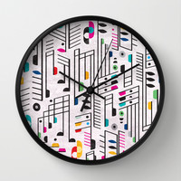 MY SONG Wall Clock by Rachel Lee