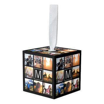 Monogram 8 Frame NGL Cube Ornament