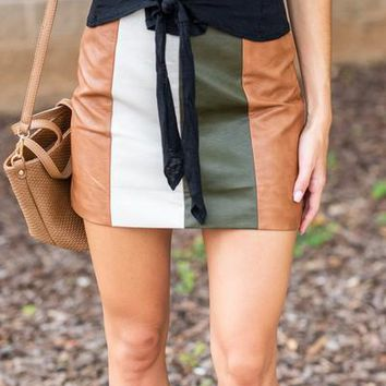 Let's Get Retro Skirt, Camel