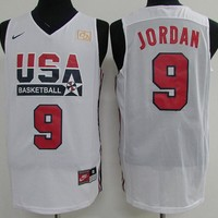 Best Deal Online Nike Basketball Jersey USA dream team 1992 Barcelona Olympic Games # 9 Michael Jordan