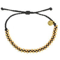 Gold Track Bead Black