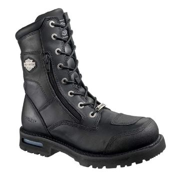 Harley-Davidson® Men's Riddick 8-Inch Lace-UP Black Motorcycle Boots D98308