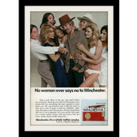 "1973 Winchester Cigar Ad ""Farrah Fawcett"" Vintage Advertisement Print"