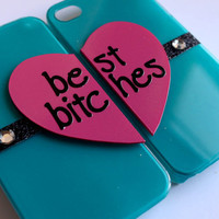 Best Bitches iPhone 4/4S cases - Teal/Pink