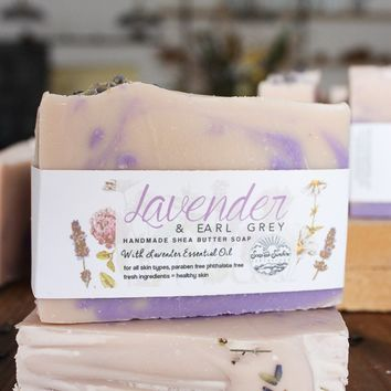 Lavender & Earl Grey Handcrafted Soap Bar