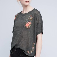 Embroidered Petal Tee
