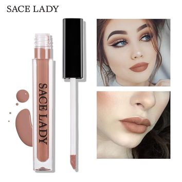 SACE LADY Ultra Matte Lipstick Long Lasting Lip Gloss Kit Waterproof Pigment Mate Makeup Liquid Tint Set Red Lipgloss Cosmetic