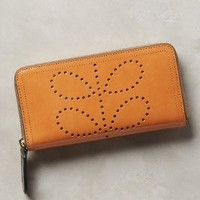 Orla Kiely Stem Punched Wallet in Cedar Size: One Size Clutches