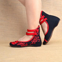 Old Beijing Mary Jane Flats Casual Shoes