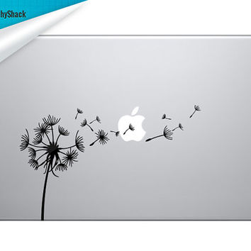 Dandelion Macbook Decal - Mac Decals Laptop Sticker Fits 12-17 inch macs