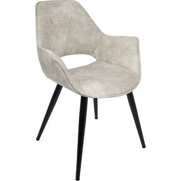 Mustang Contemporary Accent Chair, Beige (Set of 2)