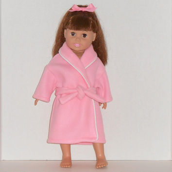 American Girl Doll Clothes Pink Robe fits18 inch Dolls