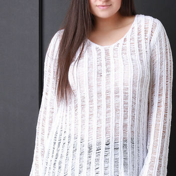 Loose Knit Boxy Sweater