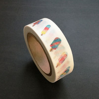 Washi Tape / Japan Sticky Adhesive Tape / Decorative Masking Tape Scrapbooking Tools Favor Stationery/ Watercolor Popsicle 10m m02