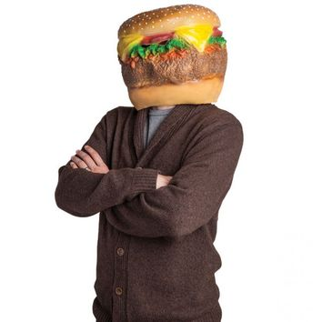 Giant Cheeseburger Head Mask - Be The Beef
