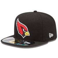 New Era Arizona Cardinals On-Field Player Sideline Performance 59FIFTY Fitted Hat - Black