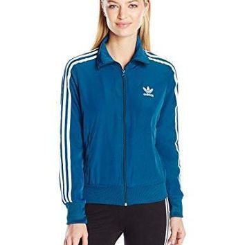 adidas Originals Women's Firebird Track Top, Tech Steel/Multicolor/White