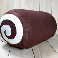 Felt Swiss Cake Roll, Novelty Pillow