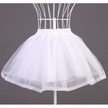 DCK9M2 Organza White Black Half Slips Panniers Stage Costumes Accessories Work For Lolita Dress Petticoat Free Size