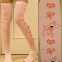 Sweet lolita over knee socks stockings thigh-highs gothic emo punk tights EGL